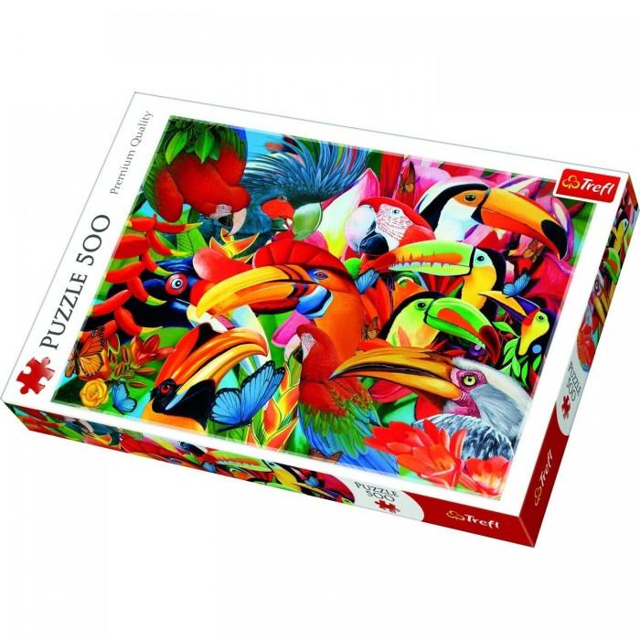 Купить Trefl Пазлы Цветные птицы (500 элементов)