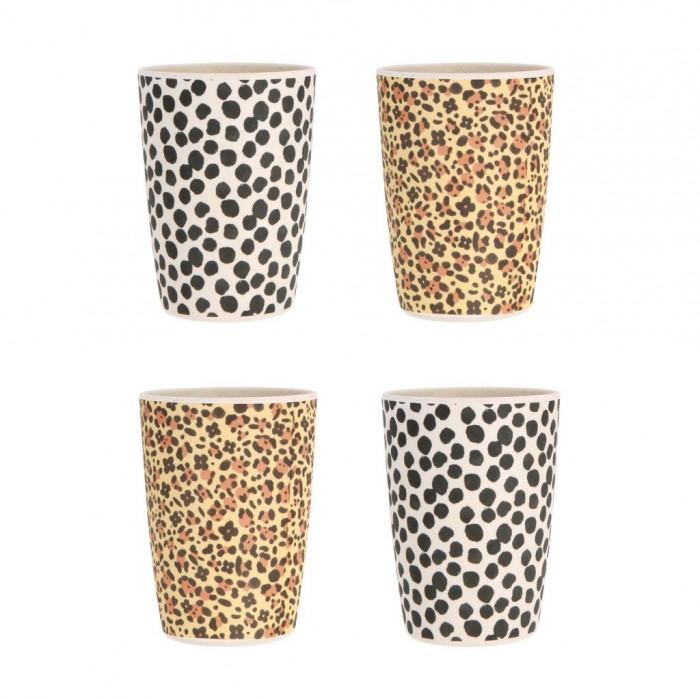 Купить Посуда, Love Mae Набор кружек из бамбука Jaguar & Jungle Spot 4 шт.