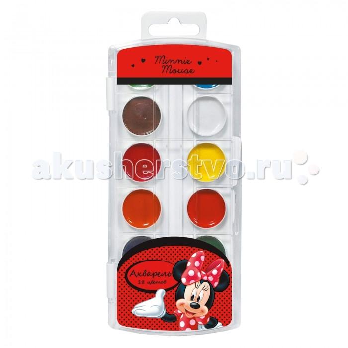 Краски Disney Акварель 18 цветов Минни фломастеры disney минни 24 цвета