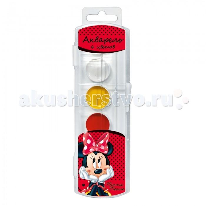 Краски Disney Акварель 6 цветов Минни