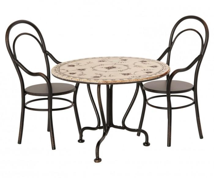 Maileg Обеденный стол и 2 стула Мини
