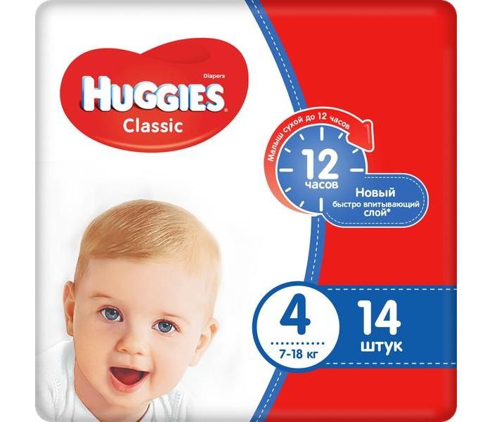 Фото Подгузники Huggies Подгузники Classic 4 (7-18 кг) 14 шт.