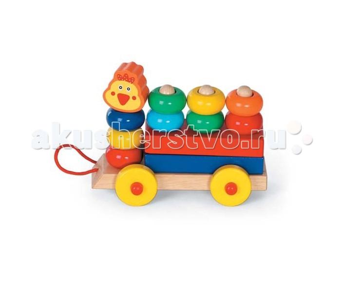 Каталки-игрушки Папа Карло Каталка Паровозик шатура smeg вытяжка kd6x 1