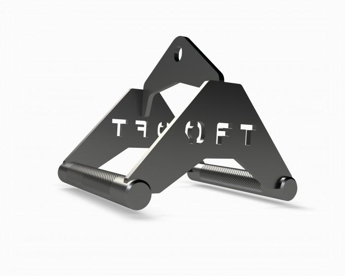 Спортивный инвентарь Original FitTools Рукоятка для тяги к животу металлическая узкий параллельный хват