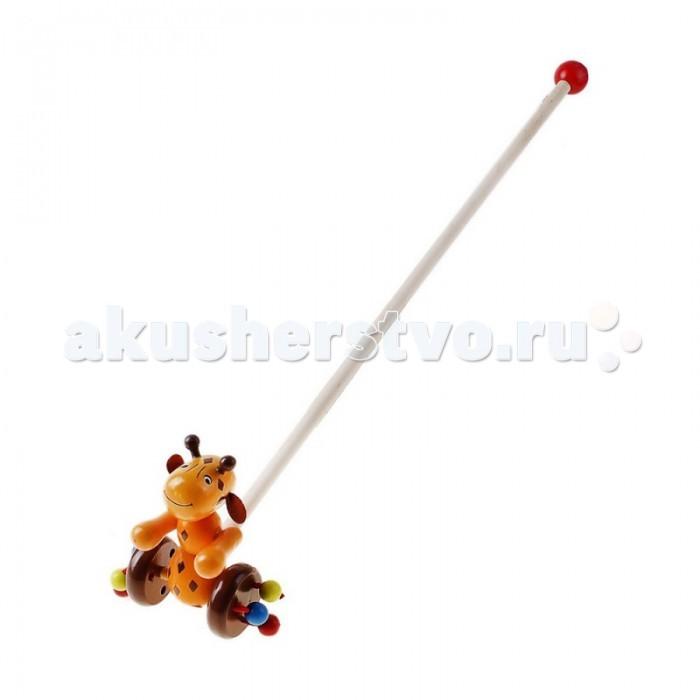Каталки-игрушки Папа Карло Каталка на палочке Жираф адаптер питания для ноутбука pitatel ad 128
