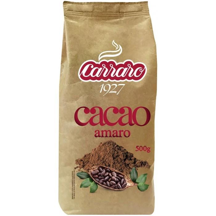 Какао, цикорий и напитки Carraro Какао Amaro без сахара 500 г