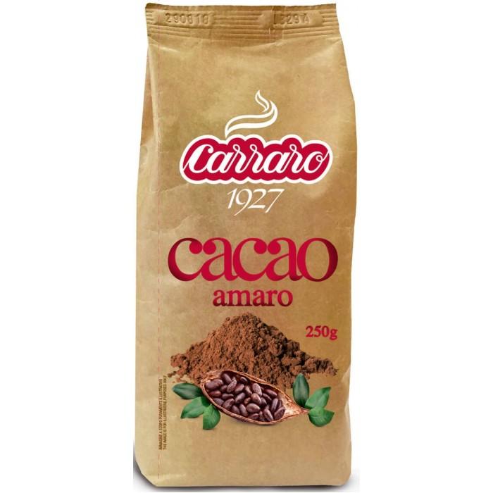 Какао, цикорий и напитки Carraro Какао Amaro без сахара 250 г