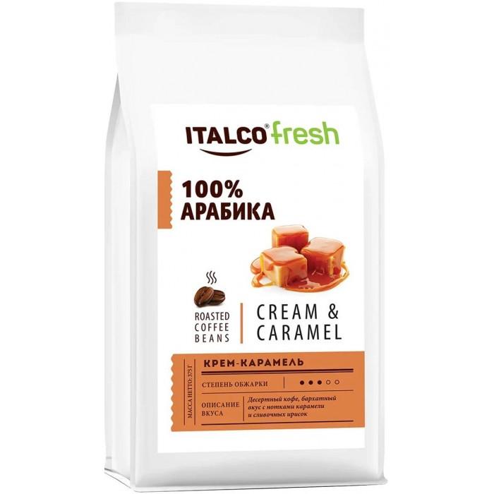 Фото - Кофе Italco Десертный кофе в зернах Fresh Cream & Caramel 375 г кофе в зернах italco fresh irish cream ирландский крем ароматизированный 375 г