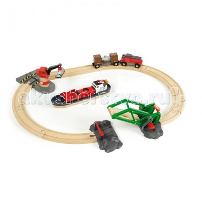 Brio Игровой набор Железная дорога Порт, 16 элементов