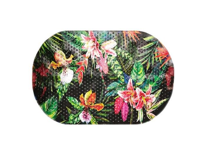 Купить Коврики для купания, Коврик Aqua-Prime Spa-коврик для ванны Тропические цветы 68х38 см
