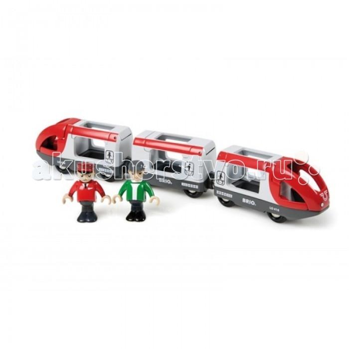 Brio Набор Пассажирский экспресс, 5 элементовНабор Пассажирский экспресс, 5 элементовНабор Пассажирский экспресс, 5 элементов.  Элементы этого набора смогут служить самостоятельной игрушкой или дополнить любой другой набор в системе железных дорог BRIO.   К локомотиву можно присоединить другой состав или за счет вагончиков увеличить его длину. А фигурки могут быть машинистами или пассажирами. Ручки и ножки у фигурок гнутся.  В наборе: 2 локомотива, вагончик, 2 фигурки.  Сочетается со всеми наборами железной дороги BRIO.  Игрушка управляется вручную.<br>