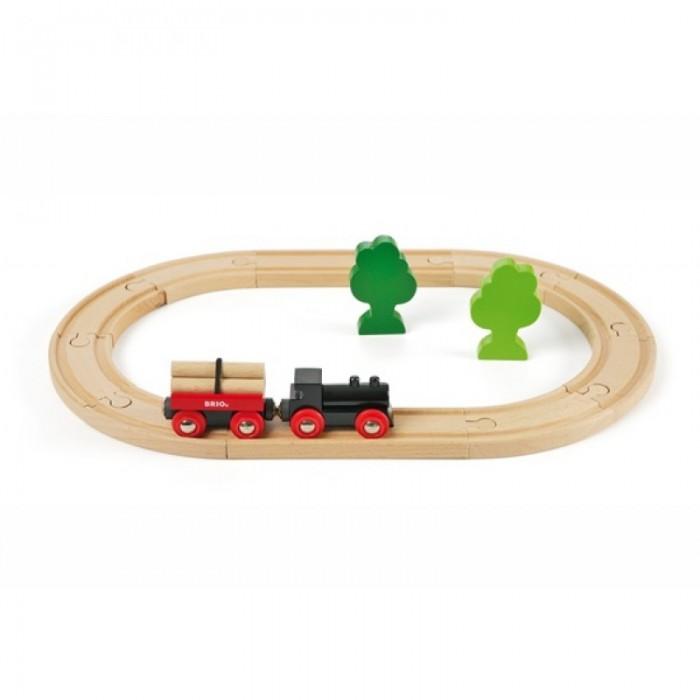 Железные дороги Brio Железная дорога с грузовым поездом, 18 элементов железная дорога со светофором экспресс поездом brio 33511