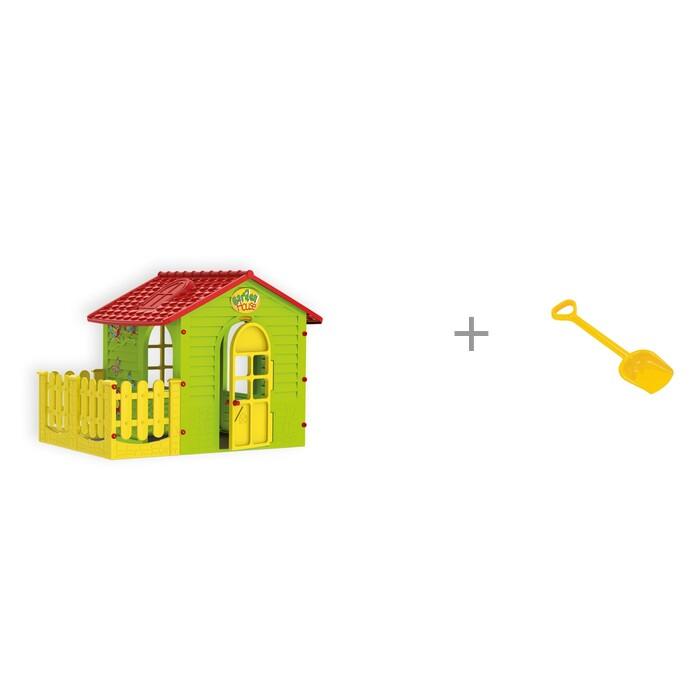 Купить Игровые домики, Mochtoys Игровой домик с забором и Полесье Лопата большая 50 см