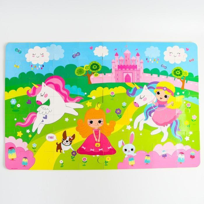 Купить Игровые коврики, Игровой коврик Крошка Я пазл Принцесса 60х90 см 56 деталей