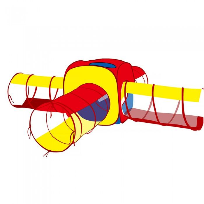 Фото - Палатки-домики Pituso Дом Квадрат и 4 туннеля + 100 шаров 180x70 см палатки домики calida дом палатка 100 шаров конус квадрат туннель