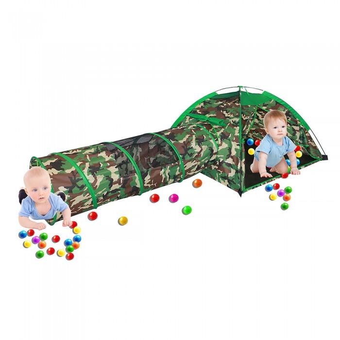 Фото - Палатки-домики Pituso Дом Милитари и туннель + 100 шаров палатки домики calida дом палатка 100 шаров конус квадрат туннель