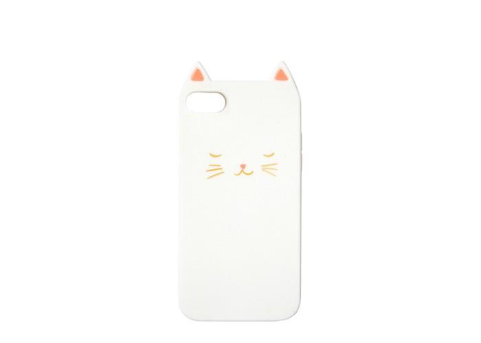 MeriMeri Чехол для iPhone 6/7/8 мягкий силиконовый Кошка