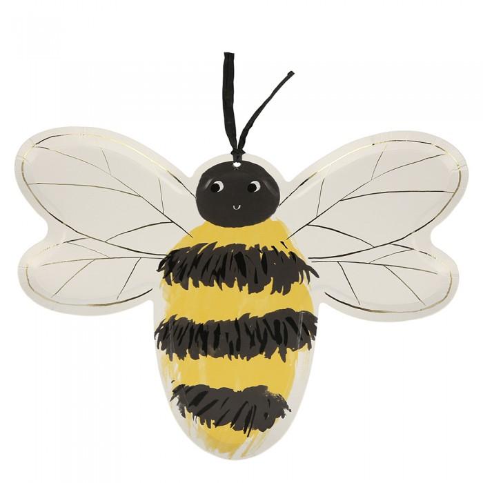Купить Товары для праздника, MeriMeri Тарелки Пчелы 8 шт.