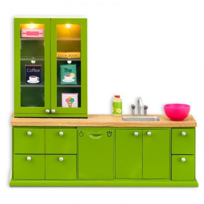Картинка для Кукольные домики и мебель Lundby Мебель для домика Смоланд Кухонный набор с буфетом