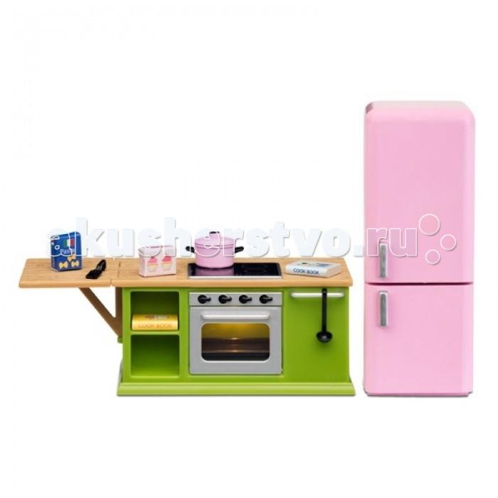 Кукольные домики и мебель Lundby Мебель для домика Смоланд Кухонный набор с холодильником