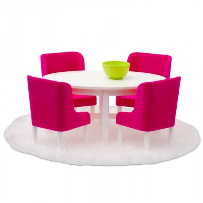 Кукольные домики и мебель Lundby Мебель для домика Смоланд Обеденная группа в малиновых тонах