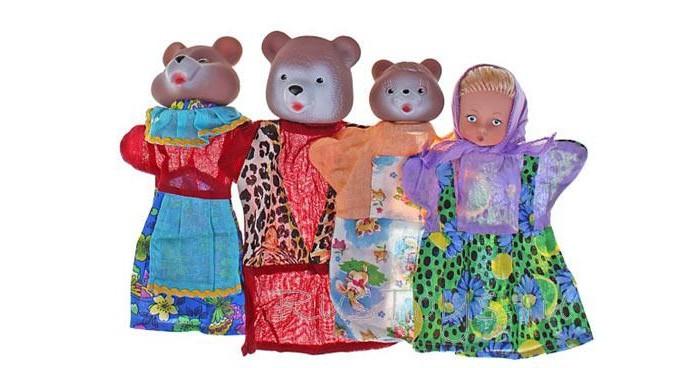 Ролевые игры Русский стиль Кукольный Театр Три медведя три медведя три медведя кофточка happy animals молочная с мишкой