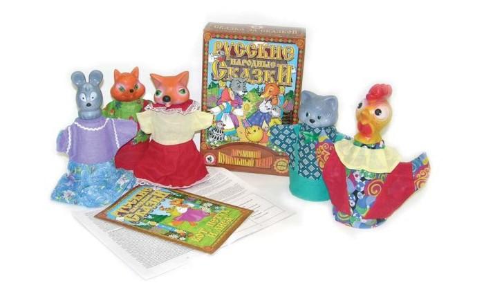 Русский стиль Кукольный Театр Кот, петух и лиса