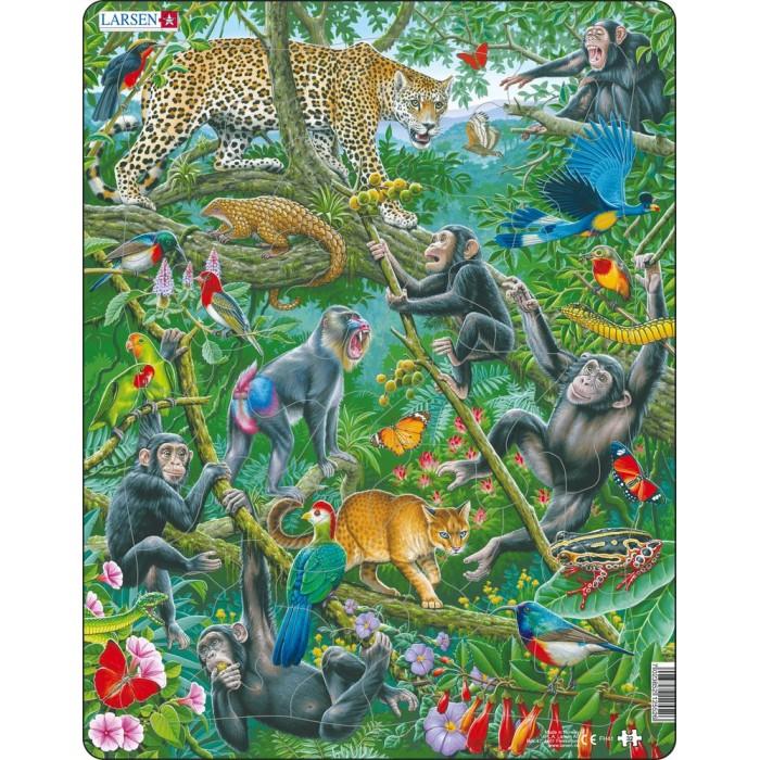 Картинка для Larsen Пазл Африканские тропики 32элемента