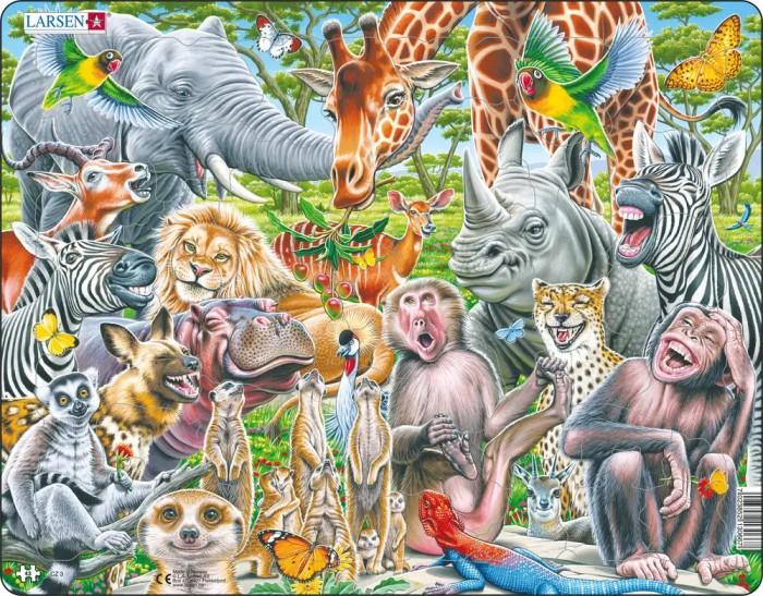 Пазлы Larsen Пазл Счастливые животные Африки 43 элемента