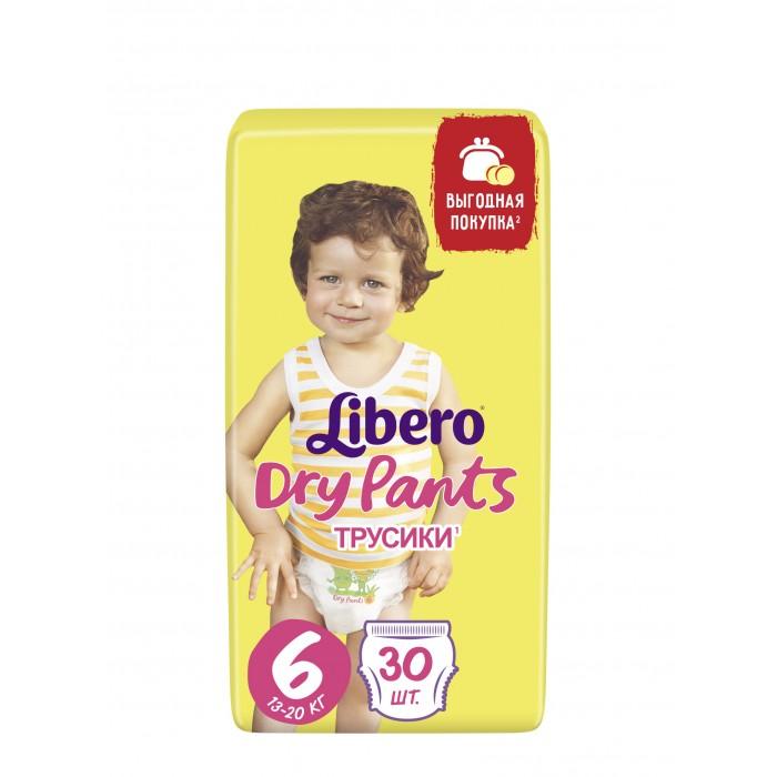 Подгузники Libero Подгузники-трусики Dry Pants (13-20 кг) 30 шт. libero подгузники трусики dry pants extra large 13 20 кг 46 шт
