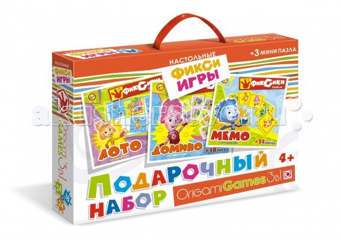 Настольные игры Origami Фиксики Подарочный набор 3 в 1 смешарики подарочный набор 3 dvd сувениры