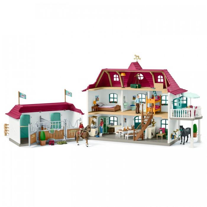 Игровые наборы Schleich Большой конный двор с жилым домом и конюшней