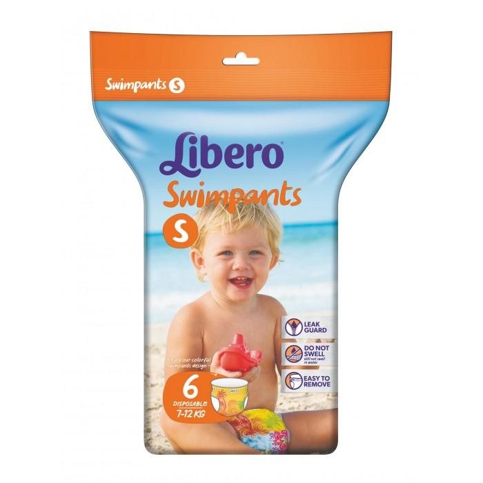 Подгузники-трусики Libero Подгузники-трусики Swimpants для плавания (7-12 кг) 6 шт. подгузники libero every day макси 7 18 кг 66 шт