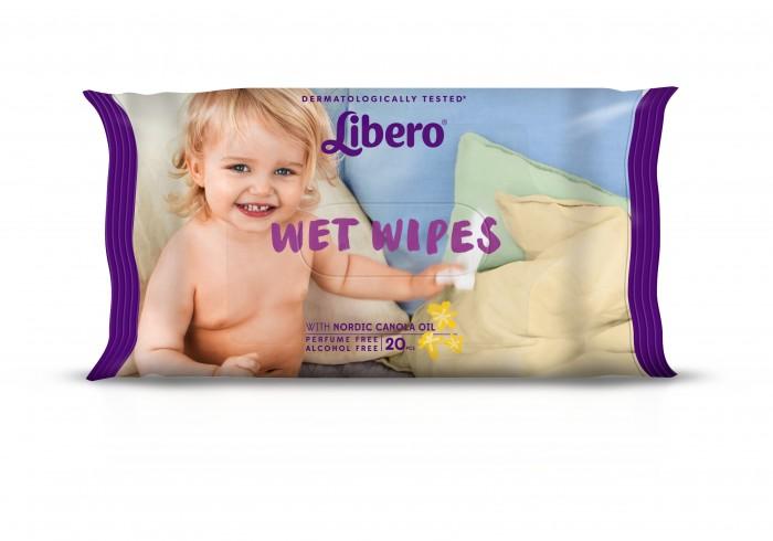 Салфетки Libero Очищающие влажные салфетки 20 шт. еврон салфетки влажные очищающие для лежачих больных 64шт