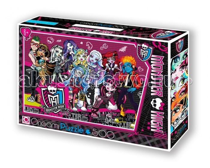 Пазлы Origami Monster High Пазл 05490 (500 элементов) + маркер с блёстками пазл clementoni monster high 4 в 1 180 элементов 08301