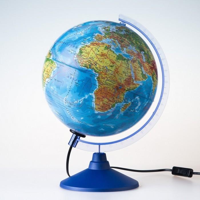 Globen Глобус Земли физико-политический с подсветкой 250 серия Евро