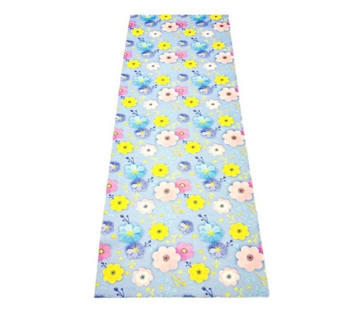 Товары для дачи и сада Бацькина баня Подстилка ковёр для бани Скрутка Цветы 150x50 см