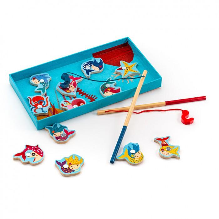 Картинка для Развивающая игрушка Djeco Игра Магнитная Поймай русалочку
