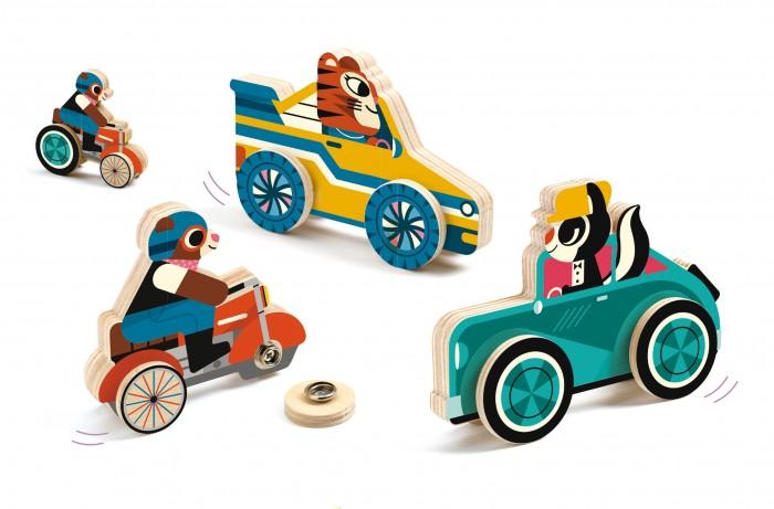 Купить Развивающие игрушки, Развивающая игрушка Djeco игра Машинки-застёжки