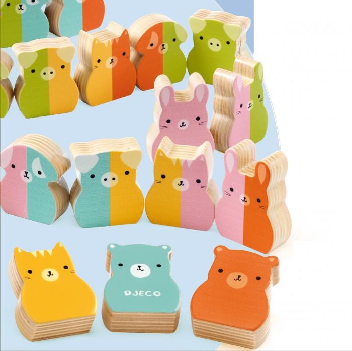 Купить Развивающие игрушки, Развивающая игрушка Djeco Домино вертикальное Зверята