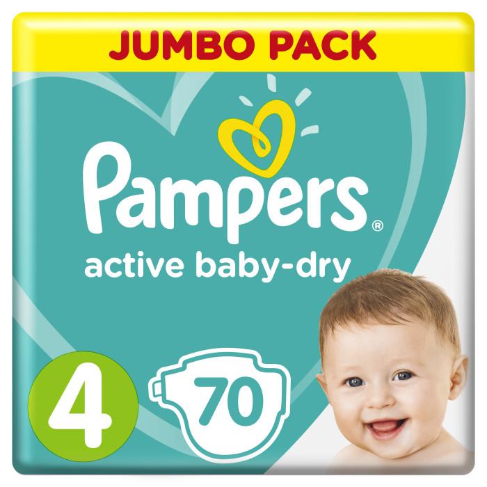 Подгузники Pampers Подгузники Active Baby Dry Maxi р.4 (8-14 кг) 70 шт. подгузники детские pampers подгузники active baby dry 8 14 кг 4 размер 90 шт