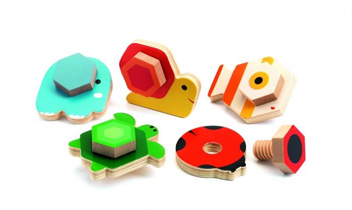 Купить Развивающие игрушки, Развивающая игрушка Djeco Сортер Прикрути основание