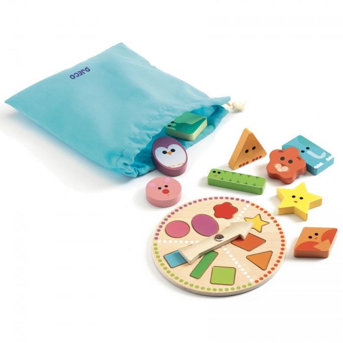 Купить Развивающие игрушки, Развивающая игрушка Djeco Тактильное лото Формы