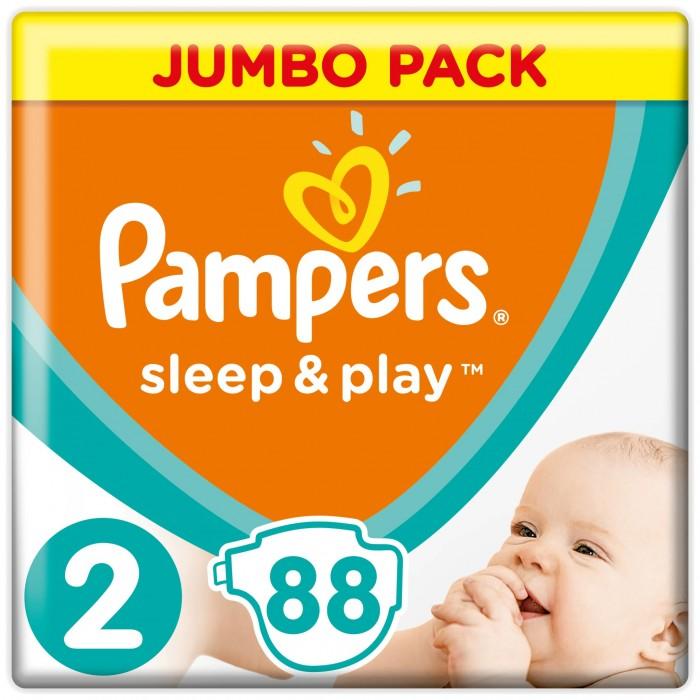 Подгузники Pampers Подгузники Sleep & Play Mini р.2 (3-6 кг) 88 шт. подгузники pampers newbaby dry mini 2 3 6 кг