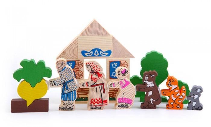 Деревянные игрушки Томик Сказки Репка томик деревянный конструктор цветной 26 деталей
