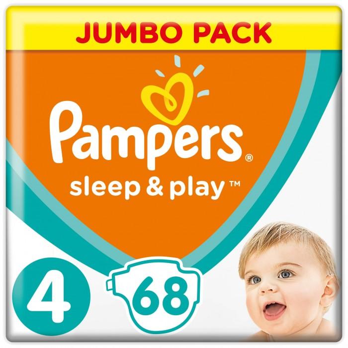 Pampers Подгузники Sleep & Play Maxi р.4 (9-14 кг) 68 шт.