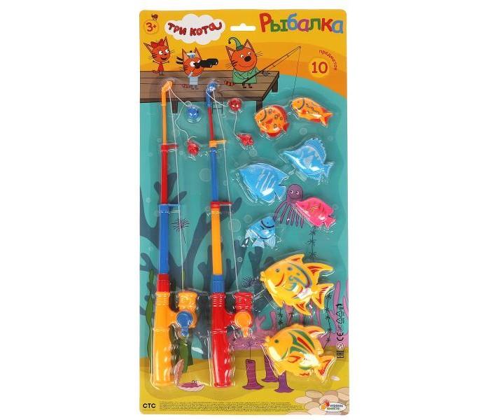 Игрушки для ванны Играем вместе Игра рыбалка Три Кота магниты игрушки для ванны играем вместе игра рыбалка три кота k095 h19006 r