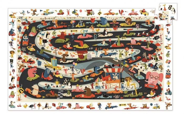 Картинка для Djeco Пазл на наблюдательность Ралли (54 детали)