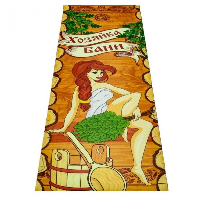 Товары для дачи и сада Бацькина баня Подстилка ковёр Скрутка Хозяйка Бани 150x70 см