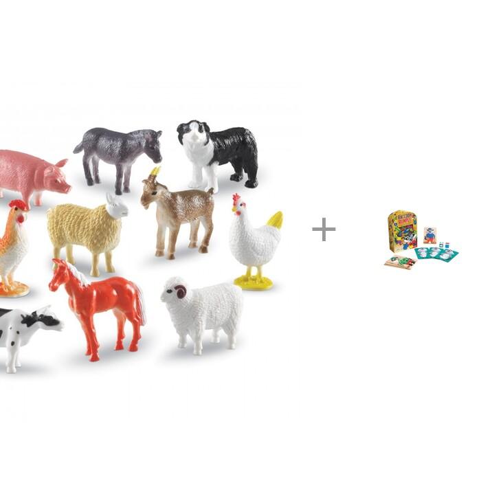 Игровые фигурки Learning Resources Игровой набор фигурок Ферма и Развивающая игра Шумный енот
